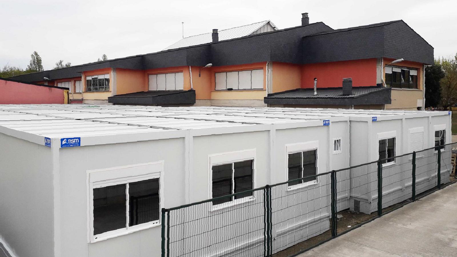 Colegio Mutilva, ampliación, vista de exteriores
